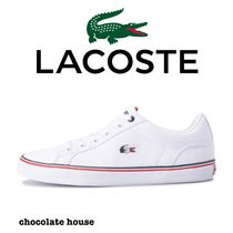 LACOSTE Casual Style Plain Other Animal Patterns Low-Top Sneakers