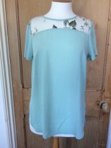 Primark Flower Patterns Medium Short Sleeves Lace Elegant Style