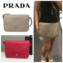 PRADA Casual Style Plain Leather Home Party Ideas Shoulder Bags