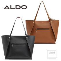 ALDO Casual Style Faux Fur A4 Bi-color Plain Oversized Totes