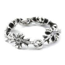 CHROME HEARTS CH PLUS Unisex Street Style Silver Rings