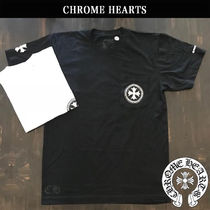 CHROME HEARTS Unisex Street Style Short Sleeves T-Shirts