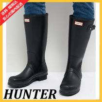 HUNTER Casual Style Unisex Street Style Rain Boots Boots