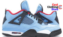 Nike AIR JORDAN 4 Unisex Street Style Collaboration Sneakers