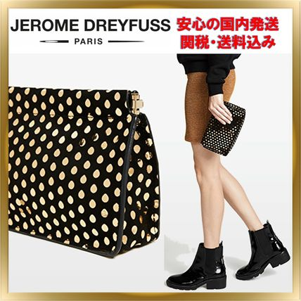 Dots Suede Elegant Style Clutches