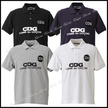 COMME des GARCONS Casual Style Unisex Cotton Short Sleeves Polo Shirts