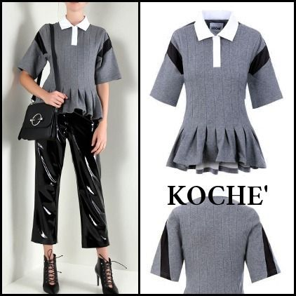 Short Casual Style Plain Cotton Short Sleeves Cropped