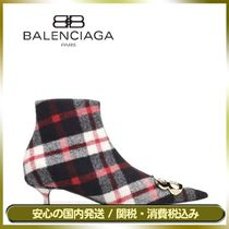 BALENCIAGA Other Check Patterns Casual Style Ankle & Booties Boots