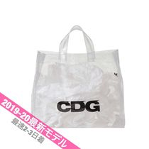 COMME des GARCONS Unisex Street Style PVC Clothing Totes