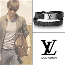 Louis Vuitton Street Style Leather Bracelets
