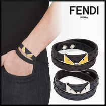 FENDI Studded Leather Bracelets