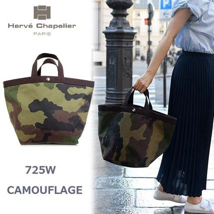 Camouflage Casual Style Unisex Nylon A4 Bi-color Handbags