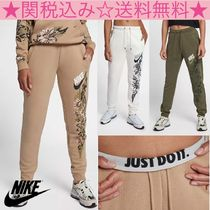 Nike Flower Patterns Casual Style Sweat Long Sweatpants