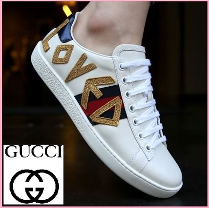 36db6b0a925 ... GUCCI Low-Top Plain Toe Casual Style Unisex Street Style Leather ...