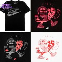 Nike Crew Neck Pullovers Collaboration Plain Crew Neck T-Shirts