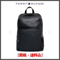 Tommy Hilfiger Unisex Faux Fur Street Style A4 Plain Oversized Backpacks