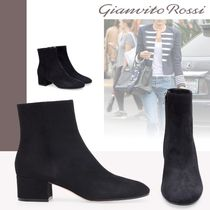 Gianvito Rossi Leather Chunky Heels High Heel Boots