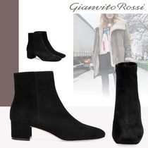 Gianvito Rossi Leather Chunky Heels Ankle & Booties Boots