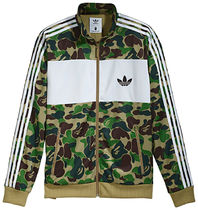 A BATHING APE Stripes Unisex Street Style Collaboration Track Jackets