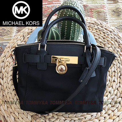 Michael Kors HAMILTON Nylon 2WAY Plain Shoulder Bags (35T8GXNM2C) by ... 75345457461a5