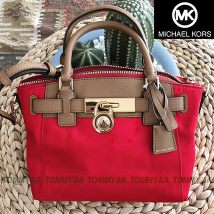 1d6a459503a6 Michael Kors HAMILTON 2018-19AW Nylon 2WAY Plain Shoulder Bags ...