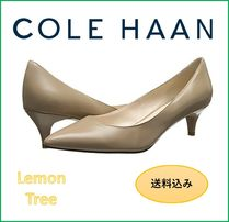 Cole Haan Plain Leather Office Style Kitten Heel Pumps & Mules