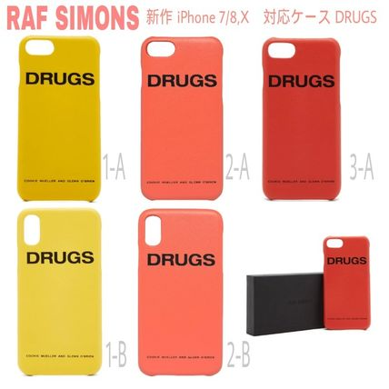 Unisex Street Style Plain Leather Smart Phone Cases