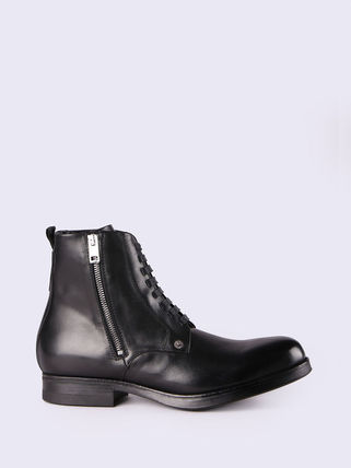 Street Style Plain Leather Boots