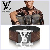 Louis Vuitton Monogram Unisex Leather Bracelets