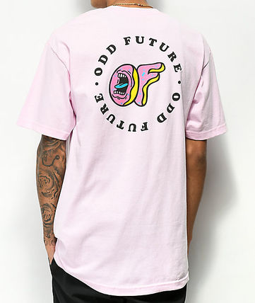 Crew Neck Street Style Collaboration Cotton Short Sleeves