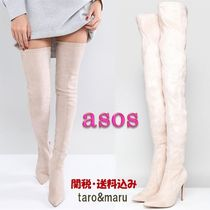 ASOS Suede Plain Elegant Style Over-the-Knee Boots