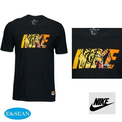 Nike Crew Neck Crew Neck Plain Cotton Short Sleeves Crew Neck T-Shirts