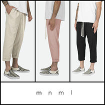 MNML Street Style Plain Cotton Cropped Pants