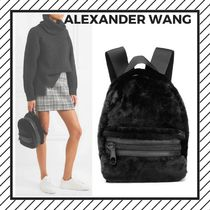 Alexander Wang Unisex Lambskin Street Style Plain Backpacks
