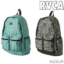 RVCA Casual Style Unisex Street Style A4 Backpacks