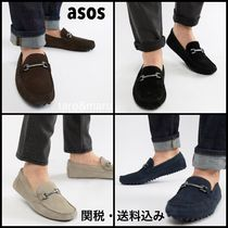 ASOS Straight Tip Driving Shoes Suede Plain Loafers & Slip-ons