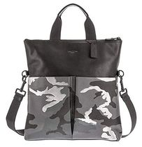 Coach Camouflage Blended Fabrics Leather Totes