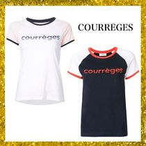 Courreges Crew Neck Street Style Cotton Medium Short Sleeves T-Shirts