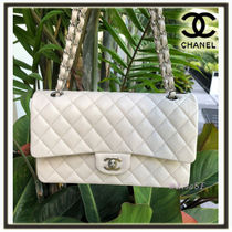 CHANEL TIMELESS CLASSICS Calfskin 3WAY Chain Plain Elegant Style Handbags