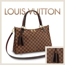 Louis Vuitton Tassel A4 2WAY Leather Fringes Elegant Style Totes