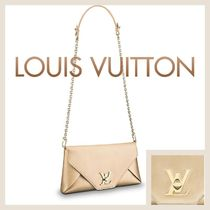 Louis Vuitton LOVE NOTE 2WAY Chain Plain Leather Party Style Party Bags