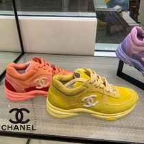 CHANEL SPORTS Casual Style Suede Plain Low-Top Sneakers