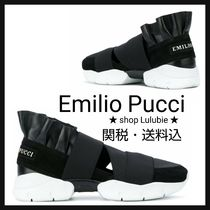 Emilio Pucci Round Toe Casual Style Low-Top Sneakers