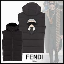 FENDI Street Style Plain Down Jackets