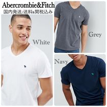 Abercrombie & Fitch V-Neck Cotton Short Sleeves V-Neck T-Shirts