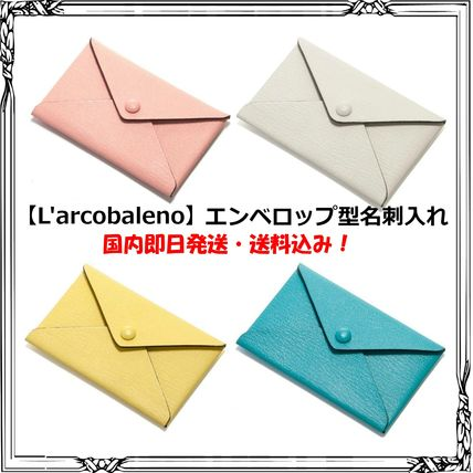 Unisex Bi-color Plain Leather Handmade Card Holders