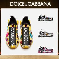 Dolce & Gabbana Casual Style Plain With Jewels Low-Top Sneakers