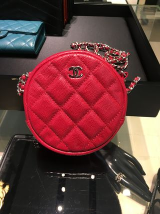 CHANEL Shoulder Bags Calfskin Chain Plain Shoulder Bags 7