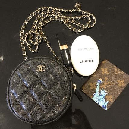 CHANEL Shoulder Bags Calfskin Chain Plain Shoulder Bags 11