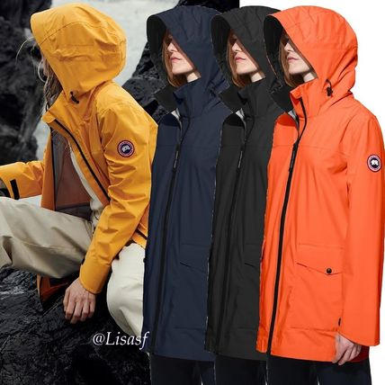 ... CANADA GOOSE Down Jackets Blended Fabrics Street Style Bi-color Plain Medium ...